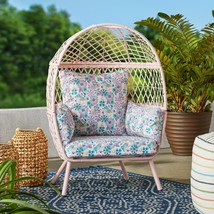 Better Homes and Gardens Ventura Outdoor Kid's Stationary Egg Chair, Pink - $184.14