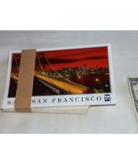 Two (2) 1998 Night Time View SF San Francisco Oakland Old Bay Bridge Pos... - $9.29