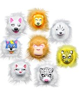 Animal Mask Kids Party Cat Wolf Cheetah Monkey Lion Full Face Fluffy Chi... - $9.46