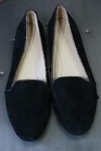 Coach suede leather smoking flats 7 B shoes black mint worn once - $50.00