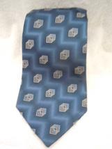 Pierre Cardin Blue Geometric Silk Tie - $5.99