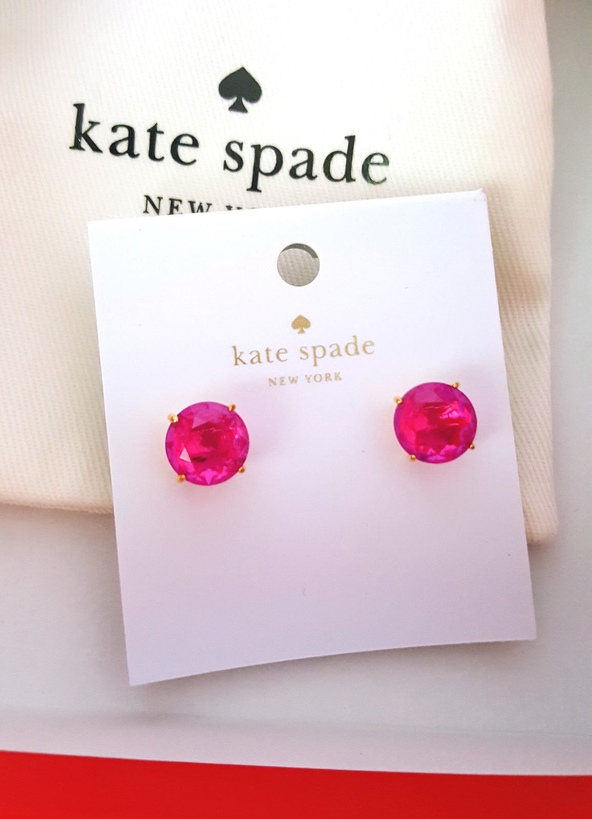 4f62c853dc07e Kate Spade Gumdrop Stud Earrings Pink Ab New and 50 similar items