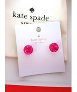 KATE SPADE Gumdrop Stud Earrings PINK AB New w/Dustbag, Box, Tags - $39.99