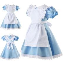 Alice in Wonderland Kids  Fancy Dress Maid Lolita Costume Cosplay Outfi... - $17.99
