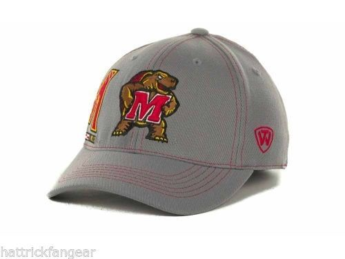 Maryland Terrapins TOW NCAA Sketched Gray Stretch Fit Cap Hat  OSFM - $18.04