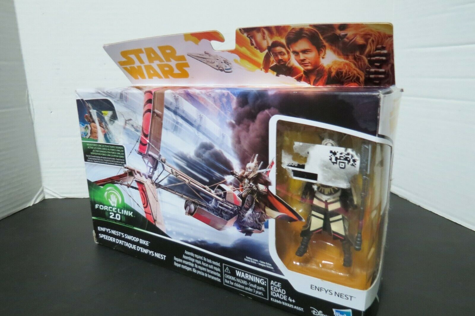 Star Wars Force Link 2.0 Enfys Nest Swoop Bike And Figurine New In Box - $10.00