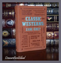 Classic Westerns by Zane Grey Brand New Soft Leather Feel Collectible Gi... - $14.95