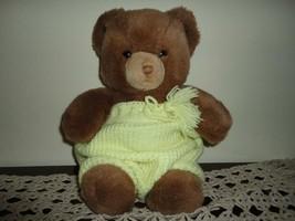 Gund Tender Teddy Bear Grumpy Face Wearing Knitted Shorts Vintage 1983  - $86.85