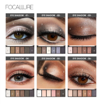 Pro 6 Colors Eyeshadow Makeup Set Waterproof Smudge High Pigment palette... - $22.25