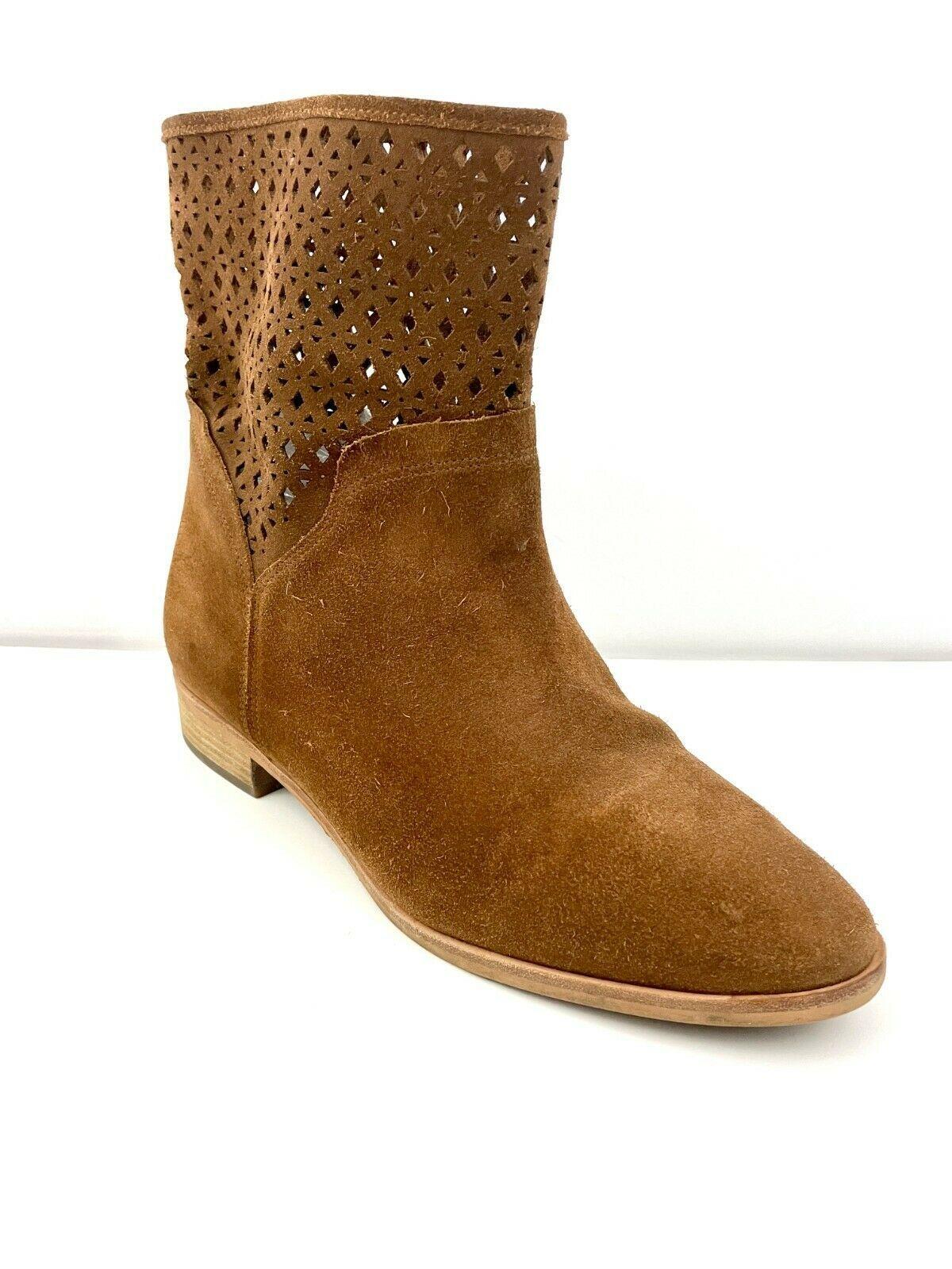 Michael Michael Kors Sunny Women's Caramel Brown Suede Bootie Sz 9 M - $31.79