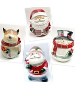 Cookie Jars Containers Canisters Home Holidays Santa Reindeer Snowman Ce... - $28.99