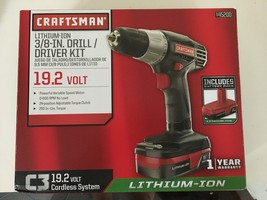 "New CRAFTSMAN 45200 C3 19.2V 3/8"" Lithium-Ion Cordless Drill / Driver Kit  - $64.30"