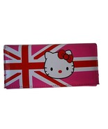 Hello Kitty Style British Flag Better Quality Clutch Billfold Wallet, HK... - $12.44