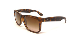 New RAY-BAN Justin Rare Sunglass RB4165 710/13 Havana w/Brown Gradient 55 - $137.15