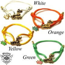WHOLESALE 10pc LOT DISNEY COUTURE BAMBI 14KT GP/GREEN SILK ADJUSTABLE BR... - $140.00