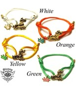 WHOLESALE 10pc LOT DISNEY COUTURE BAMBI 14KT GP/GREEN SILK ADJUSTABLE BR... - $200.00