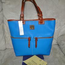 Dooney & Bourke Pebble Leather Convertible Shopper ICE BLUE image 9