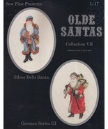Silver Bells & German Series III Santa, Sew Fine Cross Stitch Pattern L-17 - $2.95