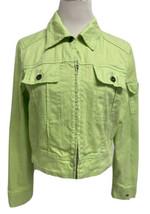 Tommy Hilfiger vintage 2004 women's jean jacket zip front long sleeve si... - $25.62