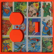 Comic Superhero USPS Stamps Light Switch Outlet wall Cover Plate Home Decor image 5