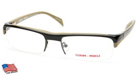 NEW Alain Mikli ML 1003 0001 BLACK/OLIVE EYEGLASSES FRAME 56-19-133mm B30mm - $84.14