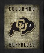 """Colorado Buffaloes """"Retro College Logo Map"""" 13x16 Framed Print  - $39.95"""