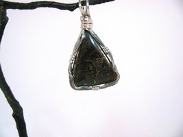 Boulder Opal Pendant Sterling Silver Wire Wrapp... - $50.00