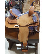 """CONNIE COMBS BY SADDLESMITH 14"""" FQHB BARREL RACING HORSE SADDLE W/ PURPL... - $985.80"""
