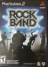 Playstation 2 Rockband Music Video Game Entertainment Harmonix Rated Tee... - $4.16