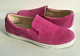 UGG FIERCE GEO PERF FURIOUS FUCHSIA SLIP ON SUEDE SNEAKERS US 9 / EU 40 ... - $64.52