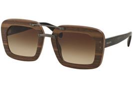 Authentic Prada Sunglasses SPR30R UBT-4O2 Wood Brown Frames Brown Lens 51MM - £138.98 GBP