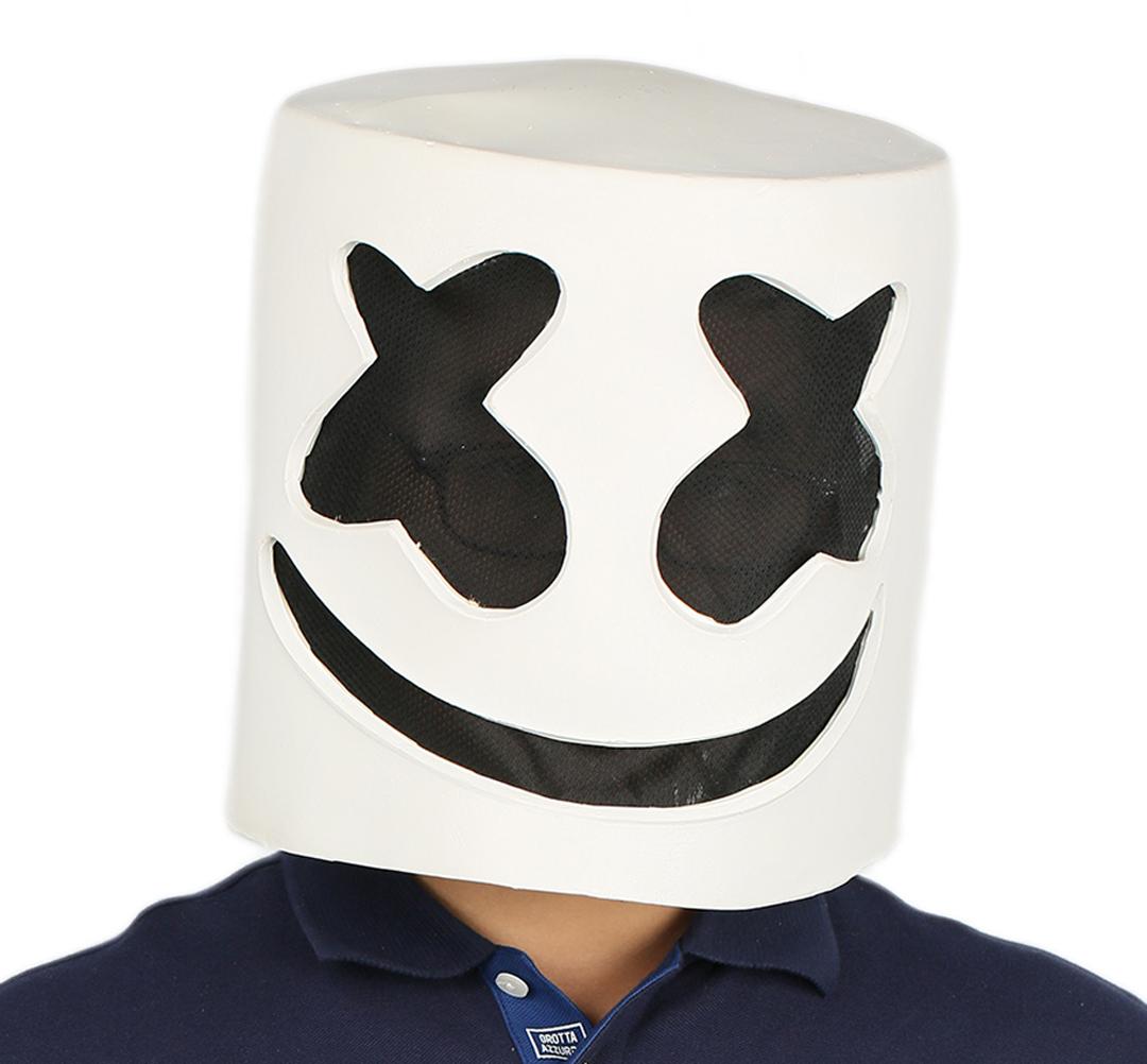 XCOSER Marshmello Helmet Full Head Latex Mask Marshmello Cosplay Mask image 5