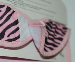 Ganz BG3191 Pink Black Zebra Hook Loop Baby Girl Infant Bib image 3