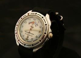 Rare vintage Soviet Vostok Amphibia Divers all steel USSR military wristwatch - $108.90