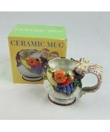 CIB 3D ceramic coffee mug fall Thanksgiving kitchen wear home decor harvest - $24.81