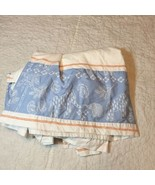 Pottery Barn Kids Crib Bedskirt Blue White Orange Elephant Giraffe 100% ... - $19.34