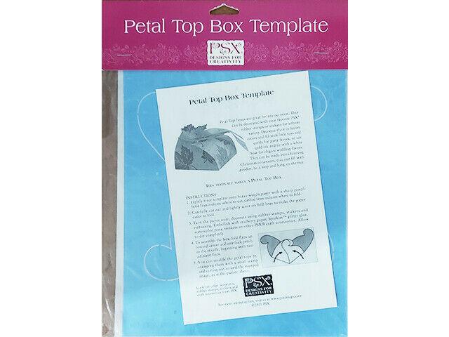 PSX Petal Top Box Template #TK06