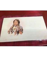 Vintage Postcard 1900 POWATCH a Ute Warrior Native American - $89.10