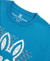 Men's Psycho Bunny Short Sleeve Newbold Graphic Tee Logo Electric Teal T-Shirt image 2