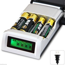 C905W 4 Slots LCD Charger for AA / AAA NiCd NiMh Batteries - US Plug Fre... - $10.71