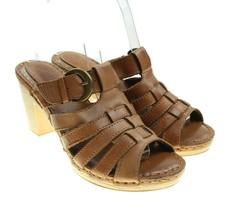 White Mountain Terrace Brown Woven Leather Sandal Sz 6.5 - $21.73