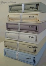 Luxury Solid Combed Cotton Percale Sheet Set - 300 Thread Count - ALL SIZES - $56.99+