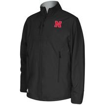 NWT New Nebraska Cornhuskers Black adidas Full Zip Softshell Fleece Small Jacket - $59.35