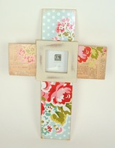Cross Floral Shabby Picture Frame Wall Decor - $27.71