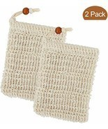 Soap Saver Bag Ramie Natural Soft Pouch Exfoliating Mesh Soap Bag Holder  - $7.60