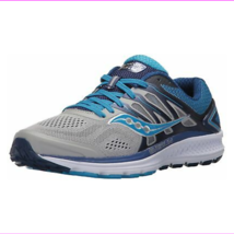Saucony Women's Omni 16 Running Shoes Grey Blue Wide - $52.20 - $61.94