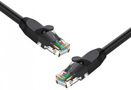 Cat 6 Ethernet Cable 6 Ft 5 Pack Black, Pro Elechain Internet Network Ca... - $35.41