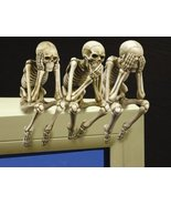 See, Hear, and Speak no Evil Shelf Sitter Skeleton Figurine (Set of 3 pieces) - $24.99