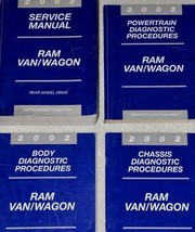 2002 Dodge Ram Van Wagon Service Repair Shop Workshop Manual Set Factory Oem - $74.21