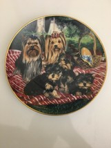 The Danbury Mint Yorkie Pals Plate Collection Family Picnic by Michele A... - $69.29